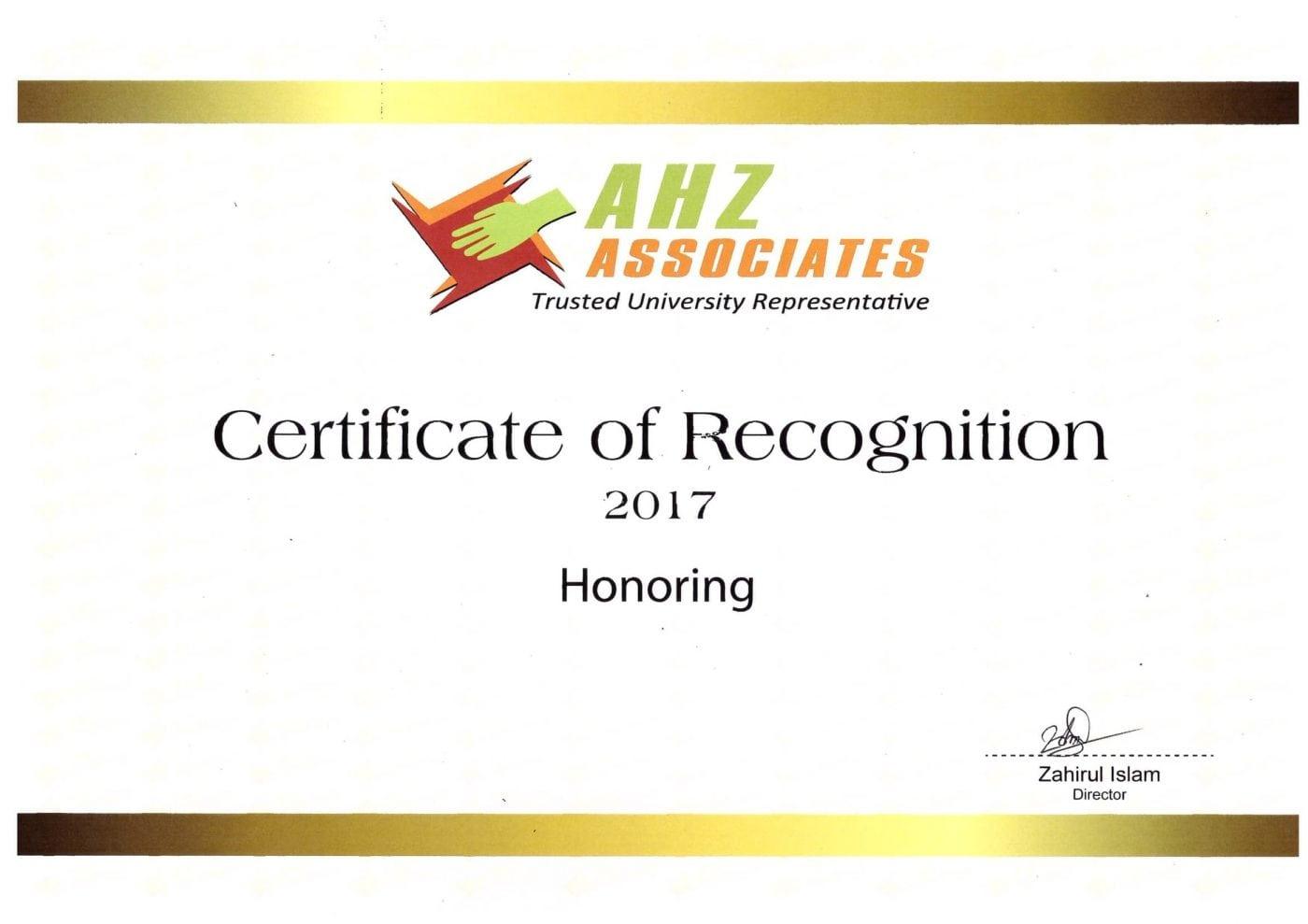 AHZ Recognition